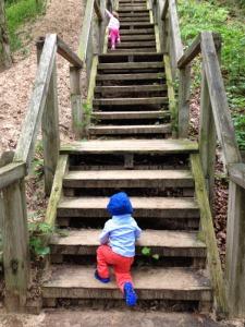 climbing stairs baby